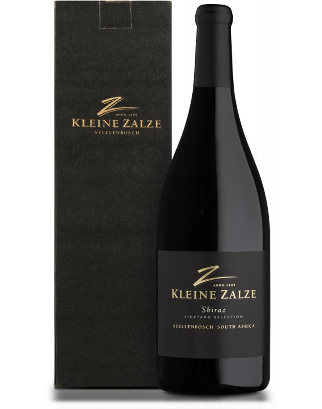 Kleine Zalze Vineyard Selection Barrel Fermented Shiraz 2017 Magnum Gift Box